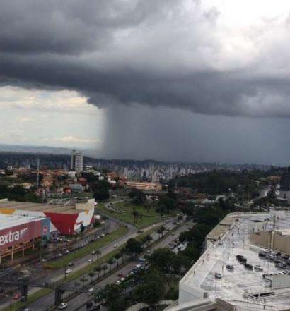 Olho no céu! Defesa Civil alerta para pancadas de chuva nesta quarta em BH